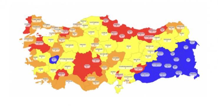 Risk haritası ve renkler