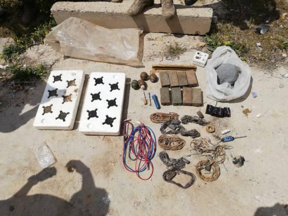 Telabyad'da İsrail yapımı patlayıcılar