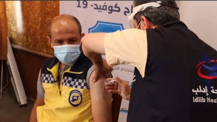 İdlib'te Aşı Çalışması