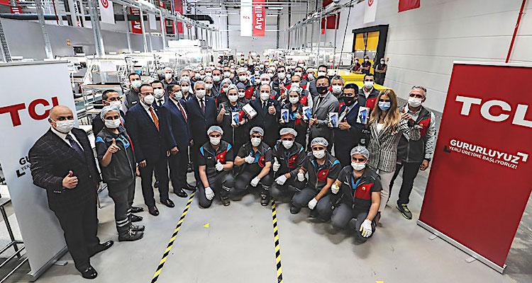 TCL, Türkiye'de üretime başladı