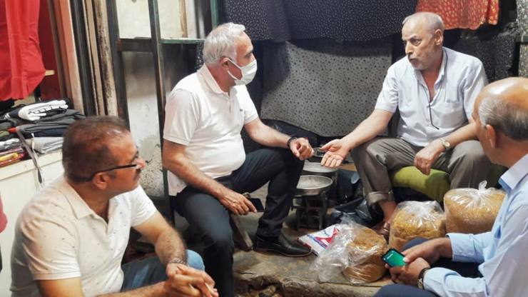 CHP Heyetin'den Esnafa Destek